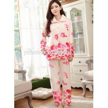 imprimirlos chicas de lujo acogedor ropa para dormir suave pijama