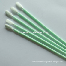 Cleanroom TX761 6'' Paddle Shaped Microfiber/100% polyester cleaning Swab w/Polypropylene Handle
