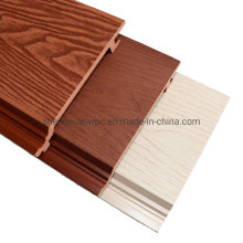 Waterproof Windproof Exterior WPC Wall Cladding Fire Rated Outdoor Wood Grain PVC WPC Wall Panels Designs for Decor
