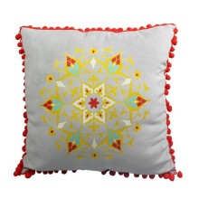 India and Pakistan style of light grey cushion