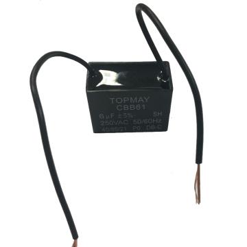 6UF + 5% condensador de ventilador Cbb61 250VAC con buena calidad y el mejor precio