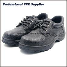 Suela de goma de cuero dividido Barato zapatos de acero con punta de protección
