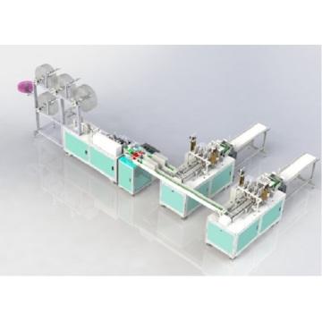 Máquina de fabricación de mascarillas médicas civiles no tejidas 1-2 completamente automáticas para hacer la máscara