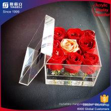 Yageli Factory Custom Made Clear Waterproof Acrylic Flower Box