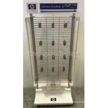 Metall Gridwall doppelseitige elektrische Produkte Mobile Point of Sale Druckmaschine Zubehör Display