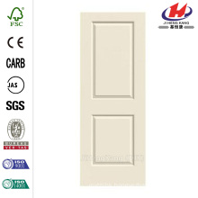 28.0 in. x 80 in. Smooth 2-Panel Solid Core Primed Molded Interior Door Slab
