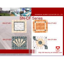 Отделка автомобильных покрытий для лифтов из PVC Marble-Line (SN-CF-601)