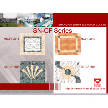Aufzugs-Auto-Boden-Dekoration in der PVC Marmor-Linie (SN-CF-601)