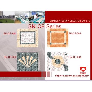 Elevator Car Floor Decoration in PVC Marble-Line (SN-CF-601)