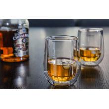 Handgemachte Doppelwand Whisky-Glas-Wasser-Becher für Großhändler