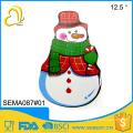 new style design snow man melamine christmas plates cheap