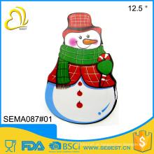 novo estilo de design de neve homem melamina placas de natal barato