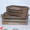 Granja Antiguo Reciclado Fir Crate Plantador de madera