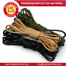 Safety reflective lanyard for outdoor