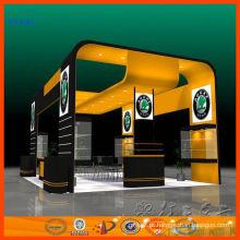 Suporte modular feito sob encomenda da ilha do carrinho de exposição do alumínio para a feira profissional para a venda e arrendamento