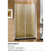 Exemple de porte de douche pour salle de bain WTM-03D12