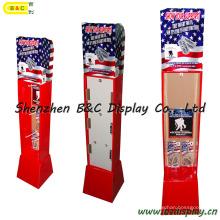 Papierhaken Display, Karton Display-Ständer, Pop-Schaufenster, Papierregal, Papier Regal (B & C-B039)