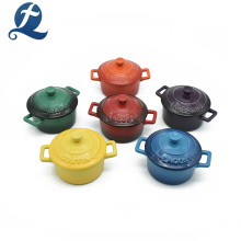 Caçarola de esmalte de cor cerâmica resistente ao calor de tampa