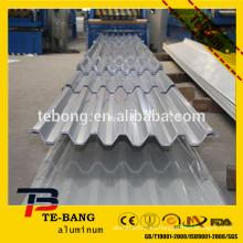 Techo corrugado de aluminio resistente a la corrosión