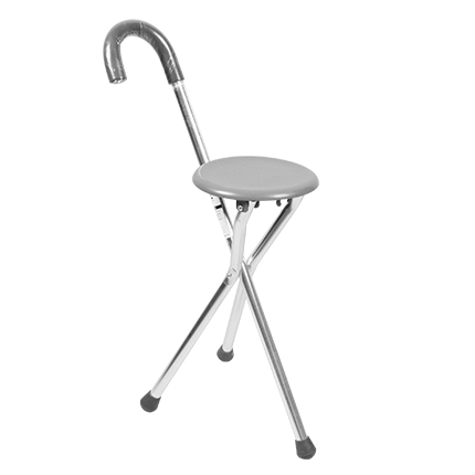 Foldable Crutch with Seat-01