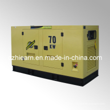 Grupo de generador diesel refrigerado por agua silencioso mecanografía el motor CUMMINS (GF2-70KW)