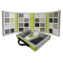 Qualifizierte tragbare Perspex abschließbare und faltbare Dekoration 32Pieces Stein Fliese Probe Display Box