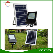 120LED PIR Motion Sensor Flood Light Solar Panel 6V 6W Waterproof Floodlight with 6000mAh Battery