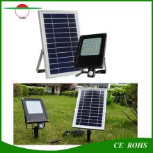 120LED PIR sensor de movimento luz de inundação painel solar 6V 6W impermeável Floodlight com 6000mAh bateria