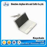 Hot Sale Custom Logo Metal Keychain Silver Plating Notebook Computer Shape Keychain