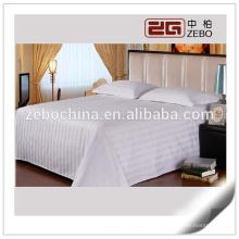 Poliéster y algodón mezclado 3cm Stripe barato al por mayor hoja de cama