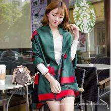 Vente chaude Mode longue femme écharpe en laine de cachemire de haute qualité