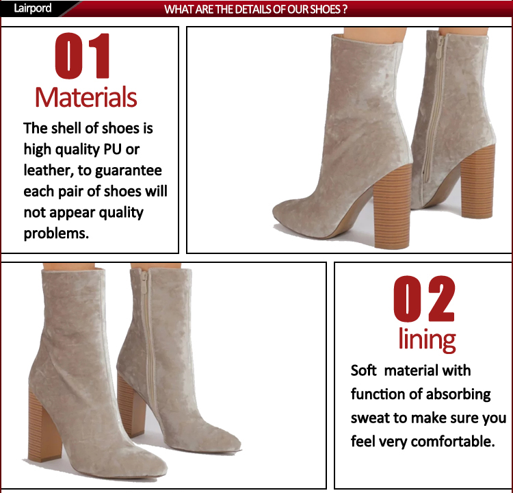 8cm high heel fashion suede short shoes