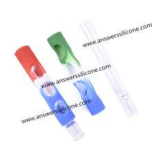 Luva de borracha macia reutilizável de silicone para frasco de perfume pequeno