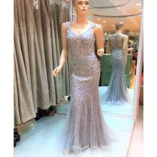 Sexy Perlen Meerjungfrau Frauen Made In China See Durch Rücken Abendkleider 2017