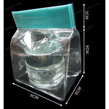 Sac à emporter PVC Clear Buckle Handle pour cosmétiques