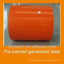 Bobina de acero galvanizado pre-pintado, RAL