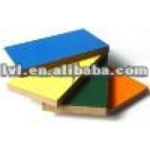В комнатных шкафах используется цветная меламиновая доска MDF