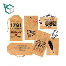 etiquetas personalizadas del paño de la caída del papel de Kraft con la etiqueta de la ropa