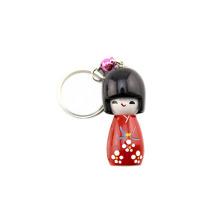 FQ-Marke Großhandel benutzerdefinierte Holz 3d hölzerne japanische Puppe Schlüsselbund
