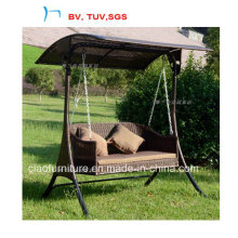 2016 Garden Rattan Shed Swing Chair with Canopy (CF102)