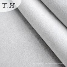 Tissu décoratif floqué en couleur blanche