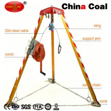 Firefighting Rescue Equipment Rescue Tripod with Hand Winch