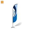 Bandeira de praia frente e verso durável Bandeira de bandeira de pena voadora