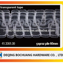 transparent curtain tape ,curtain pleat tape ,polyster curtain tape