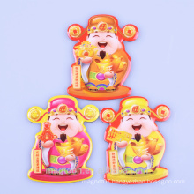 2015 Chinese good luck god design epoxy fridge magnets for gifts