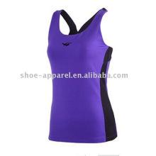 Desgaste elegante da ioga do spandex 2014 para mulheres, parte superior da aptidão