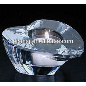 Transparente Kristall Herz polnischen Kerzenhalter für Hochzeit Gefälligkeiten