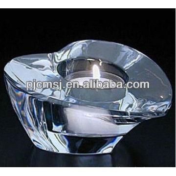 Transparent Crystal Heart Polish Candle Holder For Wedding Favors
