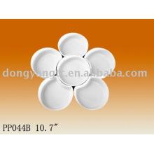 "10.7"" porcelain dessert plate"