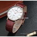 Reloj impermeable ultra fino del acero inoxidable de la venta directa de la fábrica del precio directo para los hombres